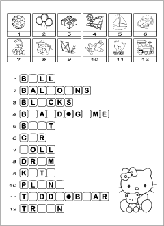 English worksheets for kids: Toys
