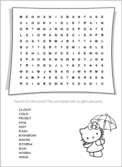 Wordsearches for teaching English to kids